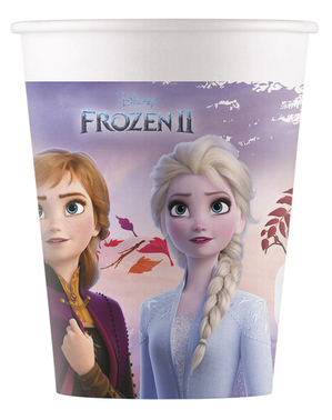 8 vasos Frozen 2 de papel compostable (20 cl)