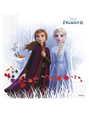 20 Frozen 2 napkins made of compostable paper (33cm)