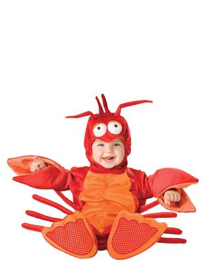 Déguisement de homard avec pinces pour bébé