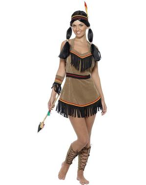 Sexig indiankvinna Maskeraddräkt