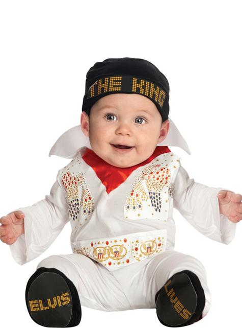 Maskeraddräkt Elvis för bebis
