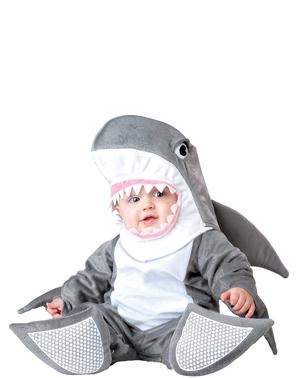 Fato de tubarão para bebé