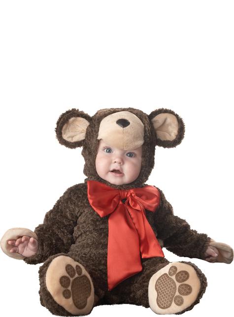 Fato de ursinho com laço para bebé
