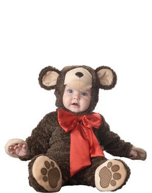 Costum de ursuleț cu fundiță pentru bebeluși