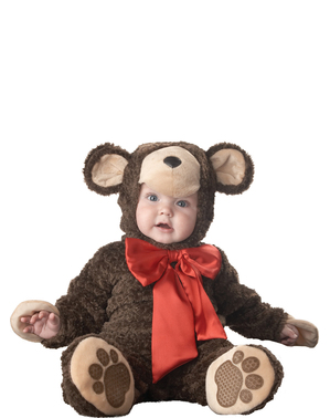 Kostium miś ze wstążką dla niemowlaka