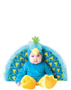 Disfraz de pavo real coqueto para bebé