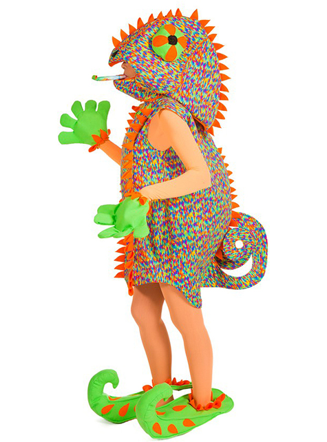 Chameleon costume for a woman