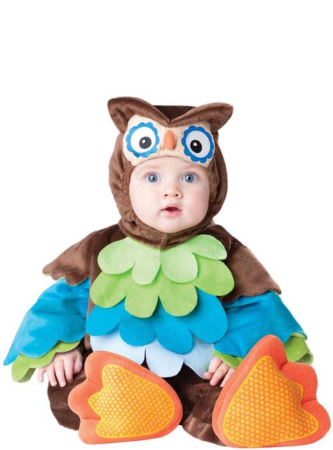 Fato de coruja para bebé