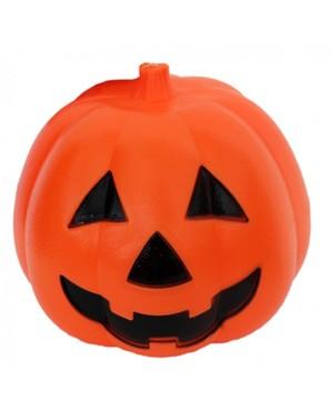 Svítící halloweenská dekorace dýně (15 cm)