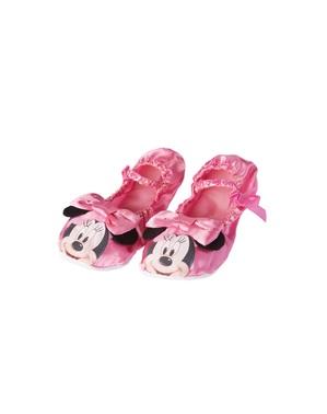 女の子のためのピンクのミニーマウスバレリーナフラット