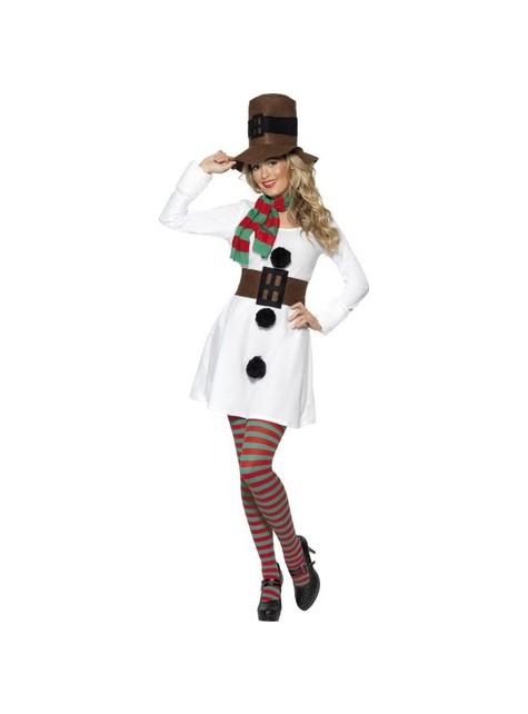 Snømann Kostyme dame