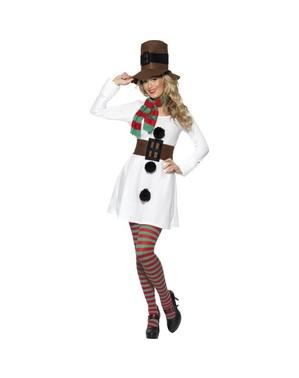 שלג-אישה למבוגרים תלבושות