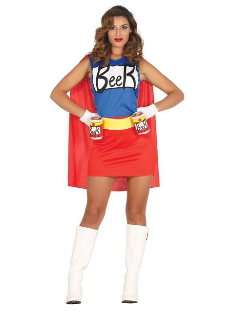 Bier superheld kostuum voor vrouw