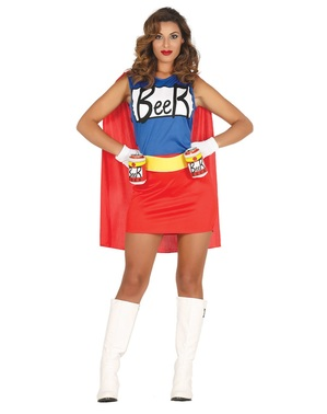 Costume da super eroe della birra per donna