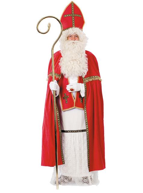 Disfraz de San Nicolás deluxe para hombre