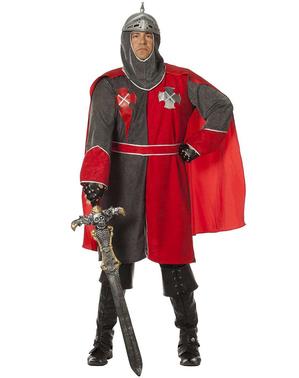 Königliches Ritter Kostüm grau für Herren