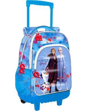 Ghiozdan școlar cu rotile Regatul de gheață 2 (Frozen) albastru