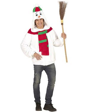 Casaco de boneco de neve quentinho tamanho grande para adulto