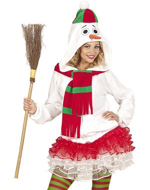 Gezellige Sneeuwpop jasje voor volwassenen in grote maat