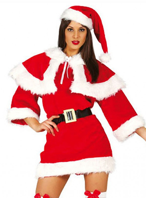 Disfraz de Mama Noel deluxe para mujer