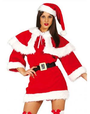 Kerstvrouw deluxe kostuum voor vrouw