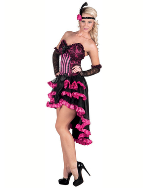 Black and pink cabaret costume for women