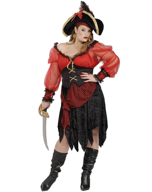 Plus Size Pretty Pirate Adult Costume