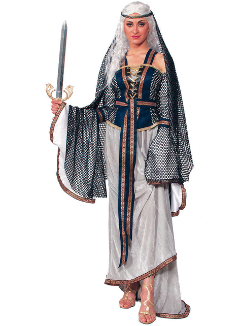 Disfraz de la Dama del Lago para mujer talla grande