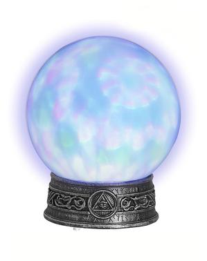 Kristallkula med ljus