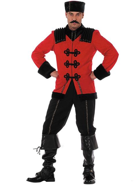Deluxe rood Kozakken kostuum voor mannen
