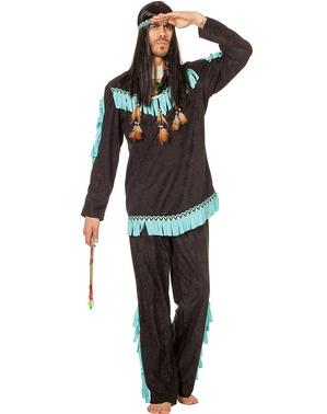 Indianer Kostüm schwarz für Herren