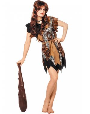 Höhlenbewohnerin Kostüm für Damen