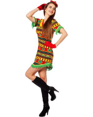 Fato de mexicana multicolor para mulher