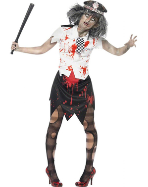 Zombie Policewoman Adult Costume