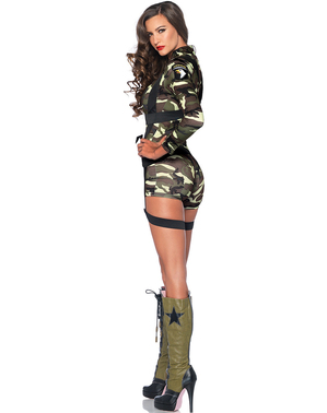 Commando costume for a woman