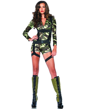 Kommando Kostüm für Damen
