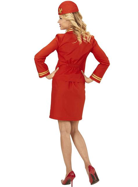 Fato de hospedeira de avião para mulher