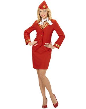 Disfarce de hospedeira de voo para mulher