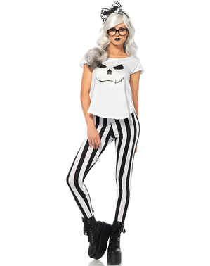Déguisement Skeleton hipster femme