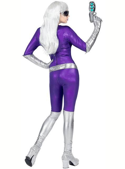 Purple alien costume for women