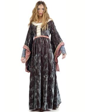 Middelalder Dronning Mary kostyme til dame