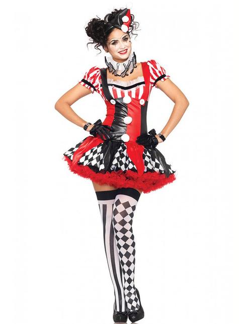 Clown kostuum voor dames