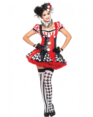 Clown Maskeraddräkt för henne