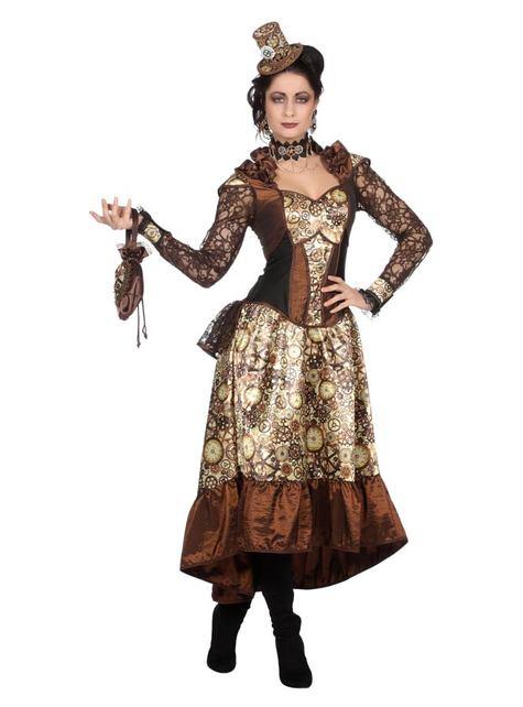 Steampunk Kostüm deluxe für Damen