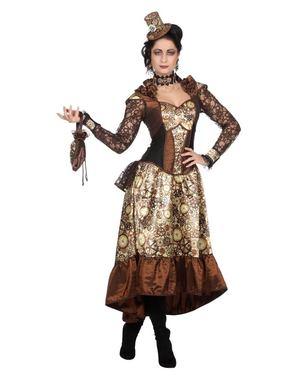 Deluxe Steampunk kostuum voor vrouw
