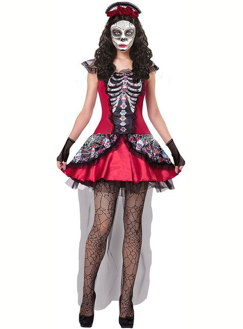 La Catrina Dag van de doden kostuum