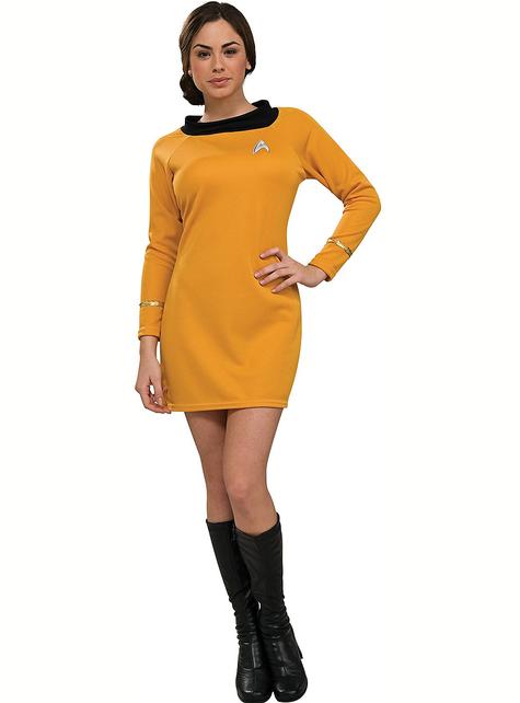 Classic Gouden Star Trek kostuum voor vrouw