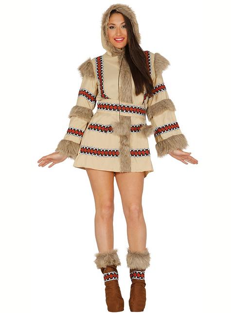 Кафяв дамски костюм на ескимос