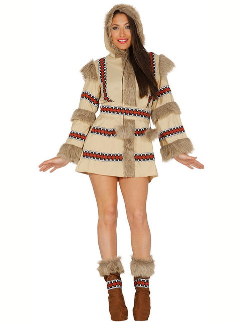 Maskeraddräkt eskimå brun för kvinna
