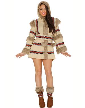 Disfraz de esquimal marrón para mujer
